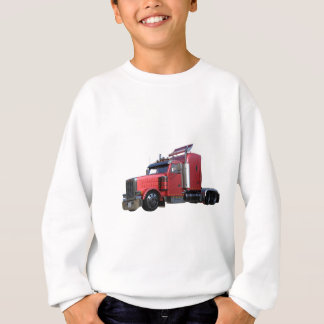 Metallic Red Semi TruckIn Three Quarter View Sweatshirt