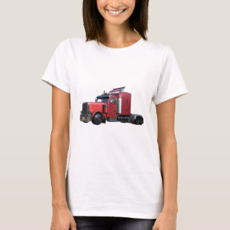 Metallic Red Semi TruckIn Three Quarter View T-Shirt