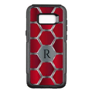 Metallic Red & Silver Geometric Pattern OtterBox Commuter Samsung Galaxy S8+ Case