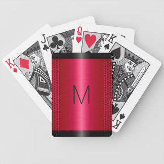 Metallic Red Stainless Steel Metal Look Bicycle Playing Cards