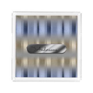 Metallic Reflections and Nameplate ID287 Acrylic Tray