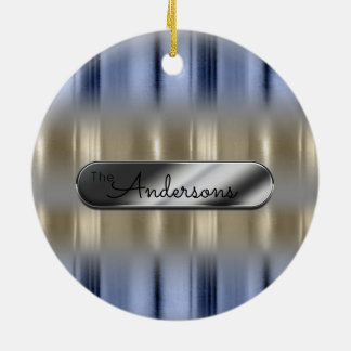 Metallic Reflections and Nameplate ID287 Ceramic Ornament