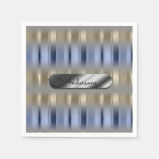 Metallic Reflections and Nameplate ID287 Paper Napkin