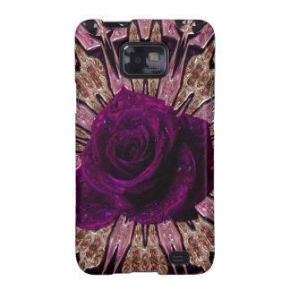 """""""Metallic Rose Abstract""""device/skins/cases"""".* Galaxy S2 Case"""