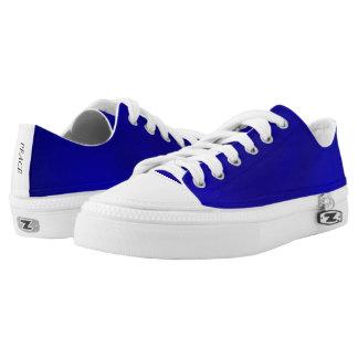 Metallic Royal Blue Gradient Low Top Canvas Shoes