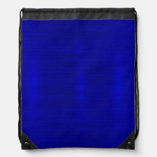 Metallic,royal,blue,modern,shimmer,elegant,chic, Drawstring Bag