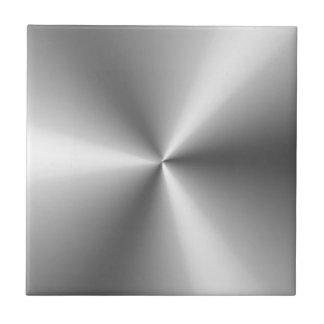Metallic Silver Ceramic Tile