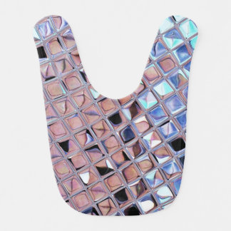 Metallic Silver Disco Ball Mirrors Faux Bib