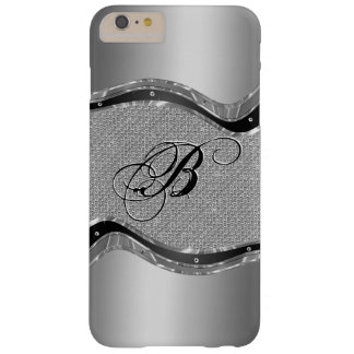 Metallic Silver Look With Diamonds Pattern Barely There iPhone 6 Plus Case