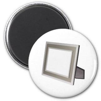 Metallic silver photo frame magnet