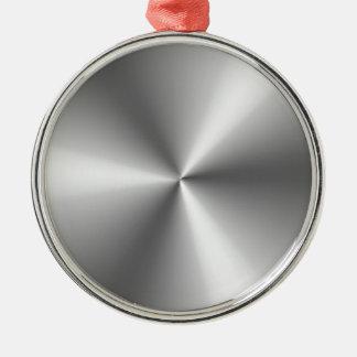Metallic Silver Silver-Colored Round Ornament