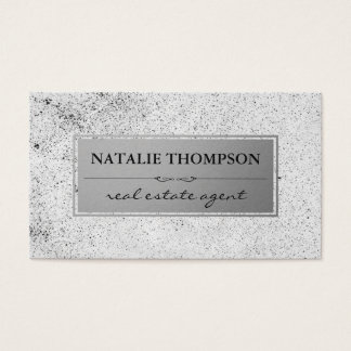 Metallic Silver Speckled Pattern Business Card