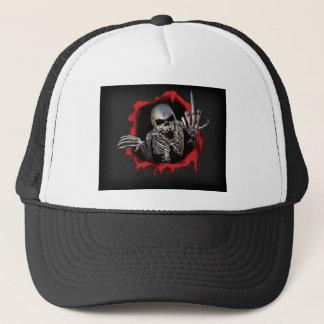 Metallic Skeleton Trucker Hat