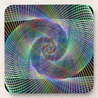 Metallic spiral coaster