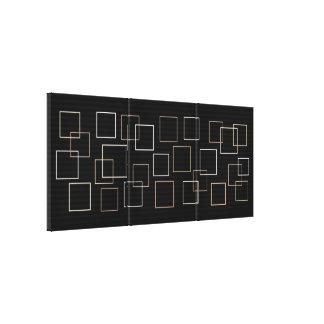Metallic Squares Canvas Print