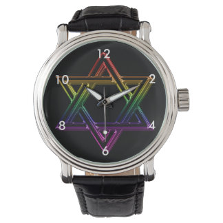 Metallic Star of David Wrist Watch