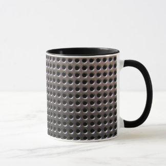 Metallic Steel Grid Pattern ~ mug