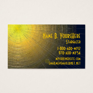 Metallic Sun Business Card
