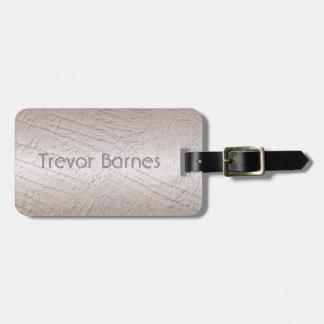 Metallic surface texture. Name. Luggage Tag