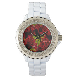 Metallic talk Tulips Watch