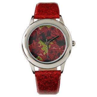 Metallic talk Tulips Watch
