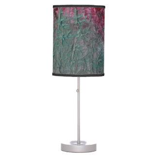 Metallic Teal, Silver, Red Shade 2 Desk Lamp