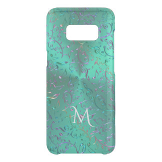 Metallic Teal with Sparkling Music Notes Uncommon Samsung Galaxy S8 Case