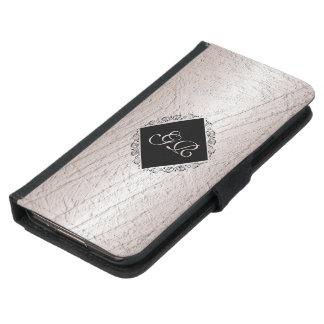 Metallic texture. Monogram Samsung Galaxy S5 Wallet Case