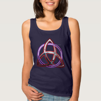 Metallic Triquetra Ladies Tank Top