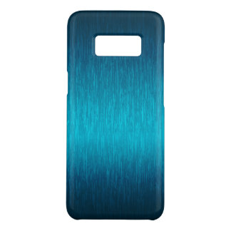 Metallic Turquoise-Blue Brushed Aluminum Look Case-Mate Samsung Galaxy S8 Case