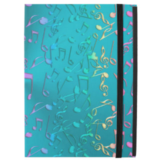 "Metallic Turquoise with Colorful Music notes iPad Pro 12.9"" Case"