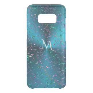 Metallic Turquoise with Sparkling Music Notes Uncommon Samsung Galaxy S8 Case
