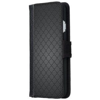 Metallic Wiry Mesh Chequered Pattern iPhone 6 Wallet Case