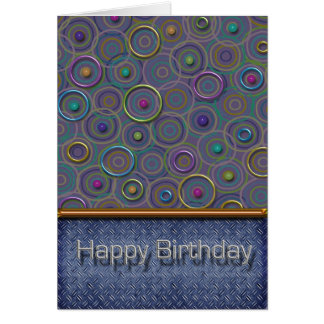 Metallica Circles and Tread Birthday Card
