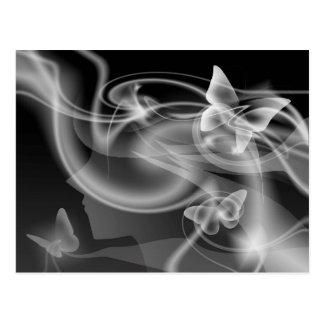 Metamophosis - Butterfly Girl Postcard