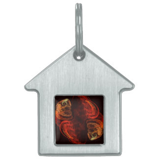 Metamorphosis Abstract Art House Pet Tag