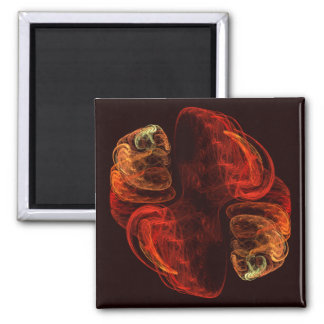Metamorphosis Abstract Art Square Magnet