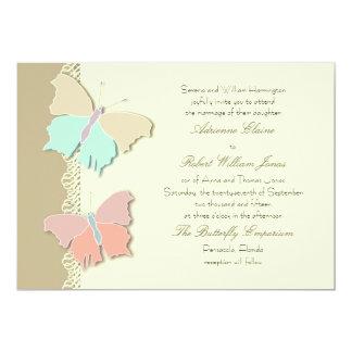 Metamorphosis Artistic Butterfly Wedding  Design Card