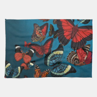 Metamorphosis Blue Butterflies Kitchen Towel
