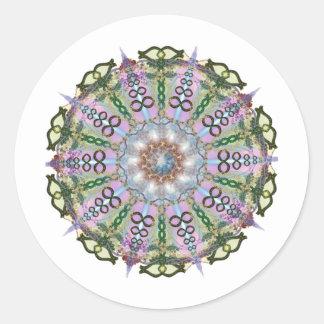 Metamorphosis Mandala Classic Round Sticker