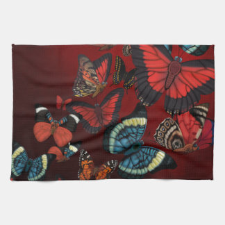 Metamorphosis Red Butterflies Hand Towel
