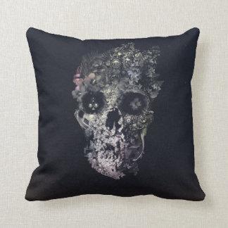 Metamorphosis Skull Throw Pillow