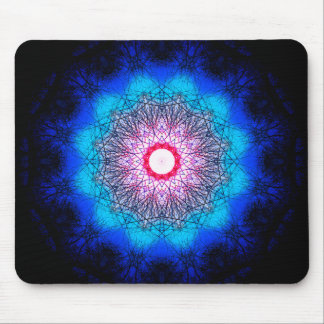 Metaphysical Snowflake Mandala Mouse Pad