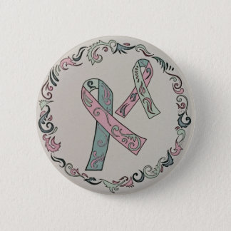 Metastatic Breast Cancer Awareness Ribbons 2 Inch Round Button
