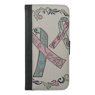 Metastatic Breast Cancer Ribbons iPhone 6/6s Plus Wallet Case
