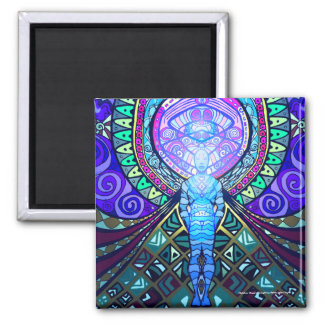 """Metatron """"Angel of Thought"""" (Magnet) Square Magnet"""