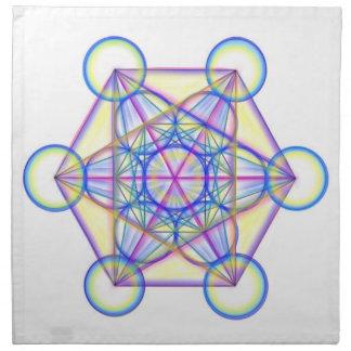 Metatron Cube Crystal Grid Cloth