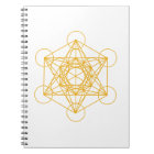 Metatron Cube Gold Notebook