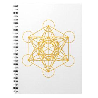 Metatron Cube Gold Notebook