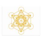 Metatron Cube Gold Postcard
